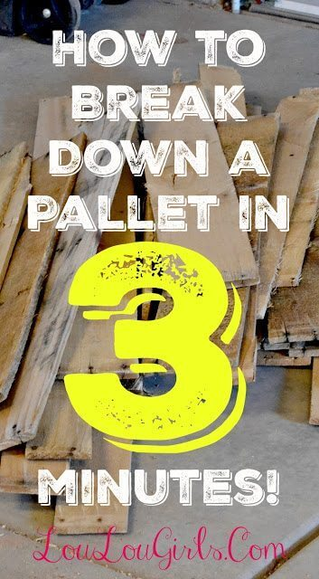 how to break down a pallet in 3 minutes
