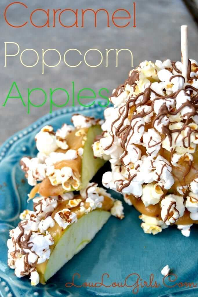 caramel popcorn apples