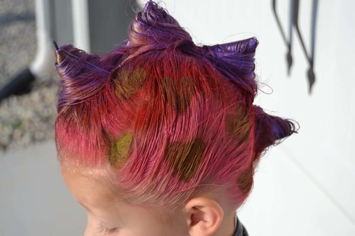 Crazy dinosaur hair day idea